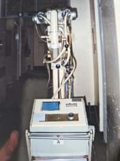 The capacitor xray unit taken out for patients